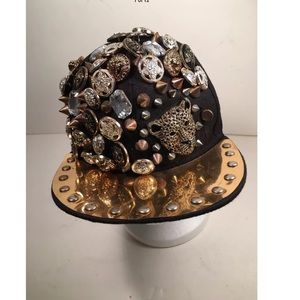 Unique heavily embellished cap